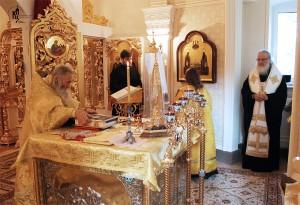 Патриарх и схиархимандрит Илий
